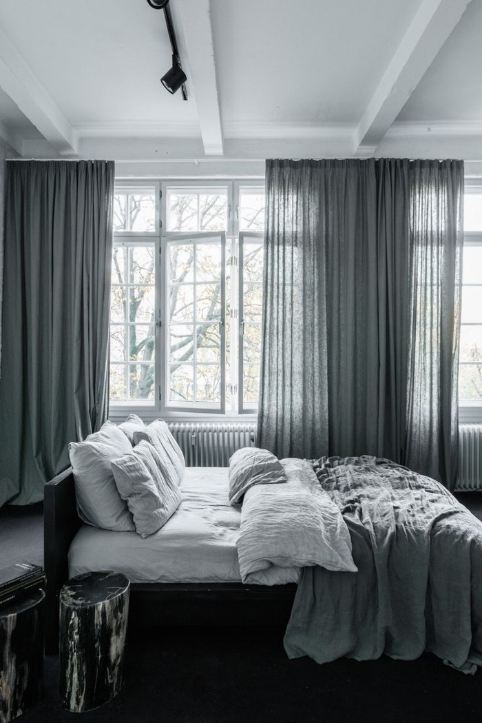 home decor bedroom gray curtains for an elegent sleeping area