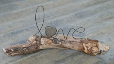 Photo of The driftwood decoration ensures a unique and natural summer mood