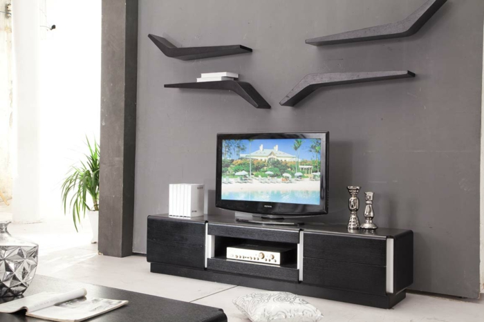 tv lowboard medial furniture television wall