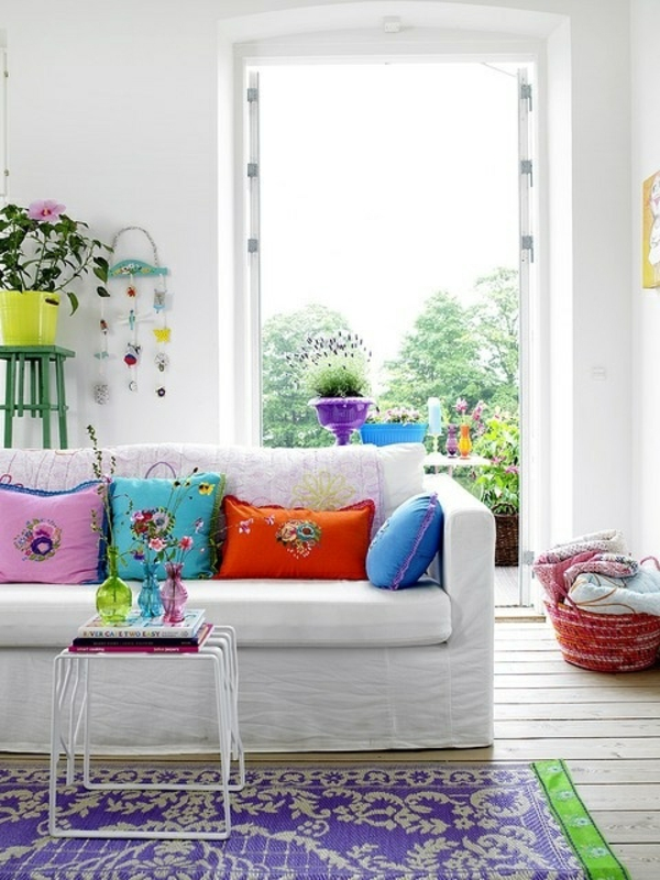 living room decoration vases colored throwaway side table