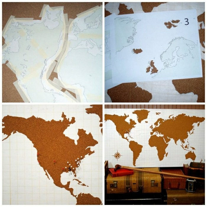 World Map Wall Decoration DIY Projects