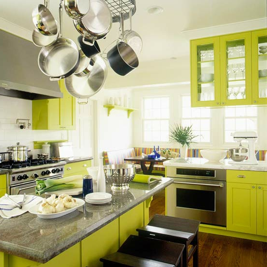 color ideas for kitchen green fresh neon island cabinets