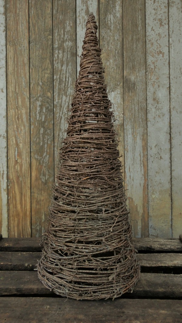 DIY fir tree made of branches