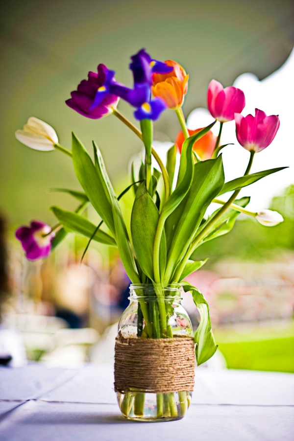 spring flowers crafts tulips table decoration spring