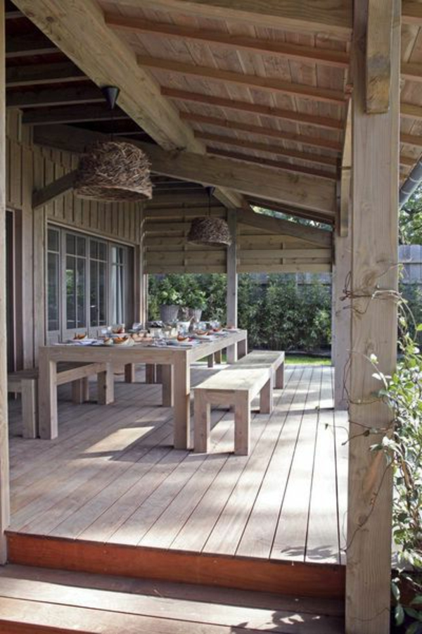 wooden patio roof wooden furniture
