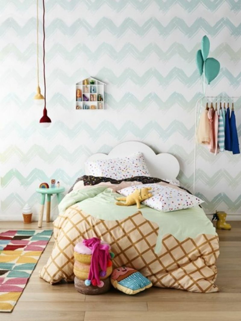 Wallpaper nursery pattern wallpaper light blue chevron pattern