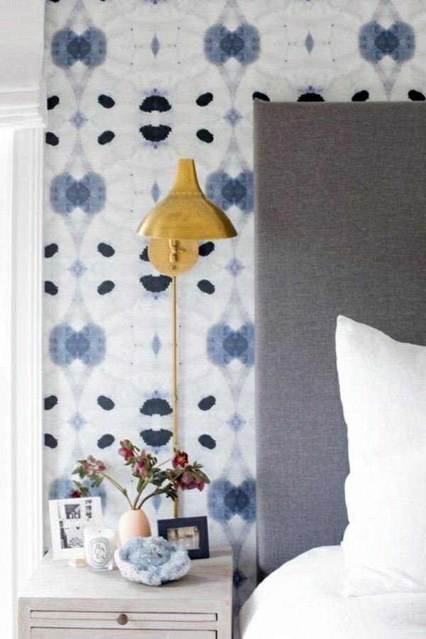 mediterranean pattern photo wallpaper bedroom