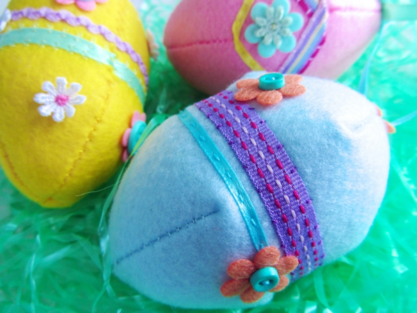 easter decoration sew easter eggs sew colored funny