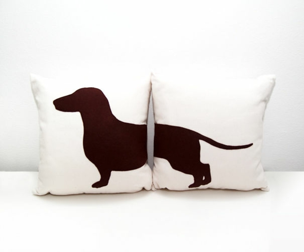 Creative deco and pillow dog breed
