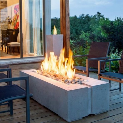 outdoor fireplace concept freestanding
