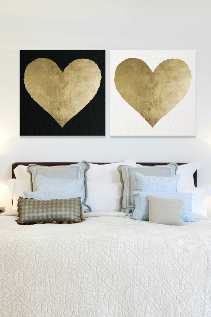 valentines day ideas hearts bedroom wall decor