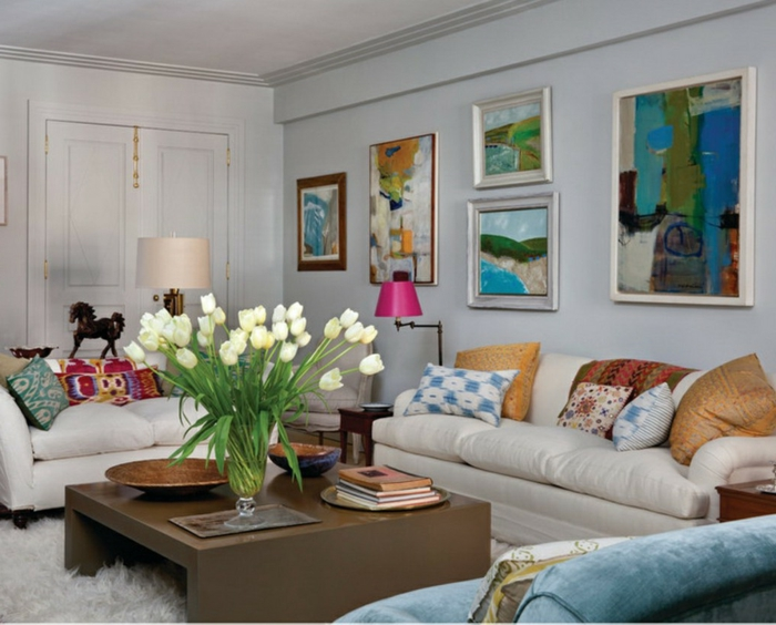 deco flowers living room decorate white tulips