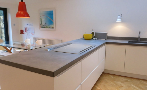 countertop concrete look modern kitchen