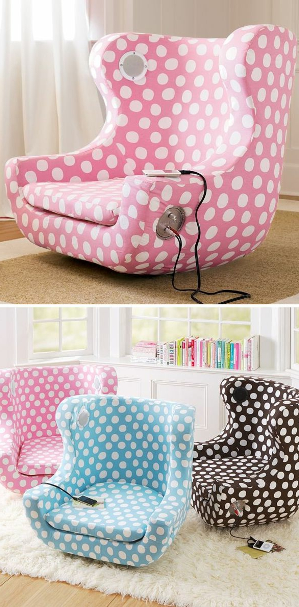 childrens armchair design dots funny functional