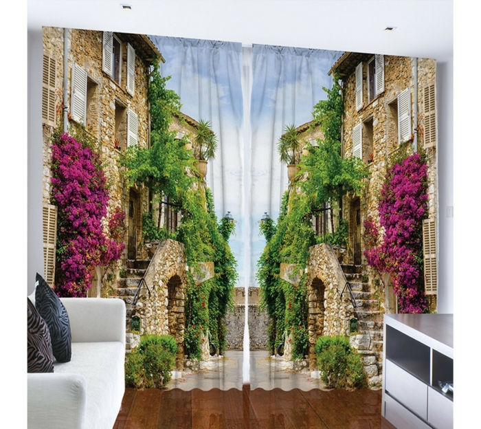curtain fabrics drapery curtains 3d photo motif living room