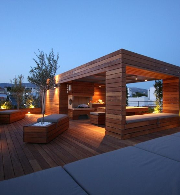 roof made of wood