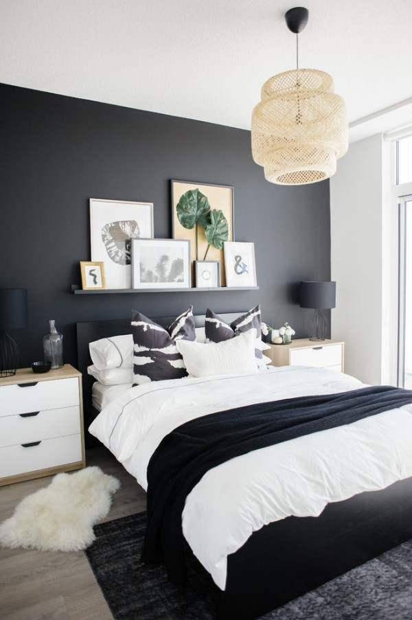 Tips and black wall paint