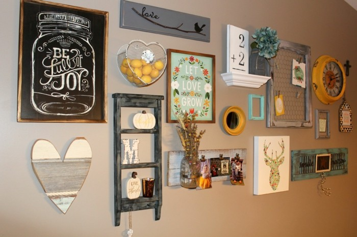 Make wall decorations yourself