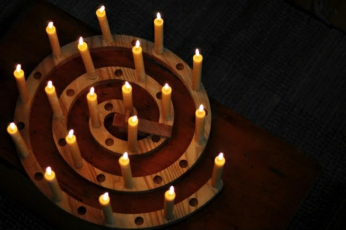 diy advent wreath spiral beautiful design