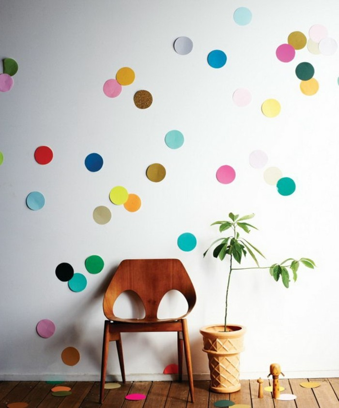 wall decoration ideas paper colored circles