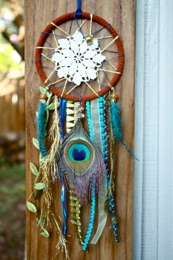 dream catcher make your own peacock feather lace