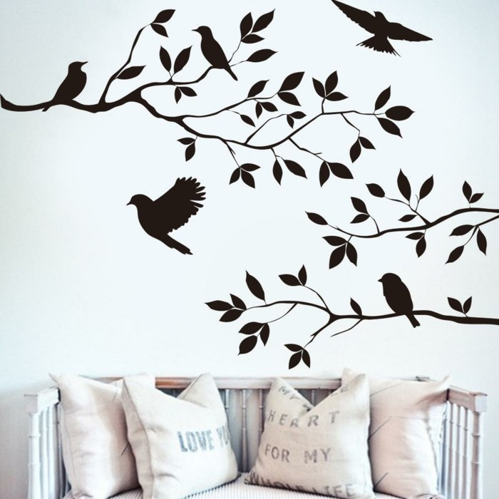 wall decals tree branches living room living room wall decoration