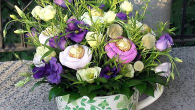 Photo of Easter decoration in purple ensures a good festive mood and eye joy