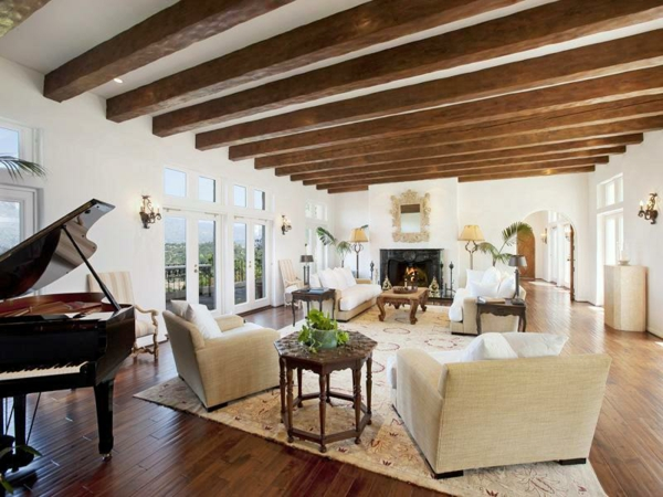 wooden ceiling from beams ceiling ideas living room furniture