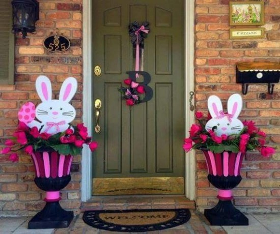Easter bunny door Easter decoration