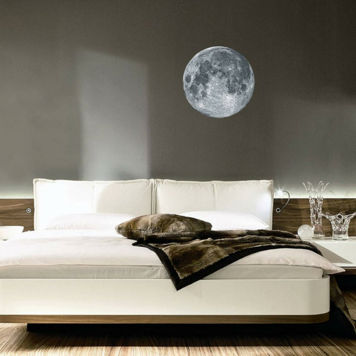 bedroom decorate modern bedside wall stickers