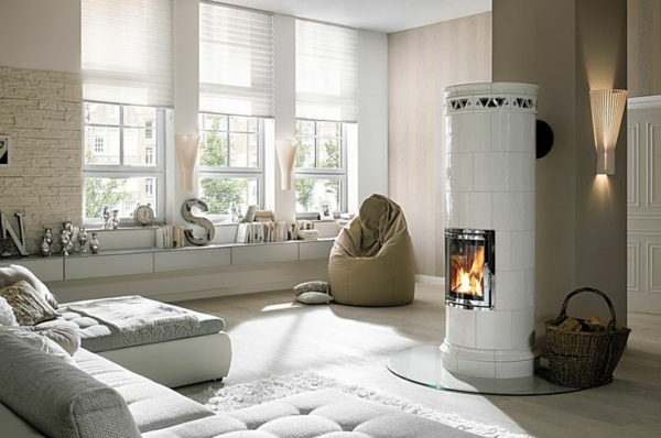 round tiled stoves hark cool living ideas living room design ideas