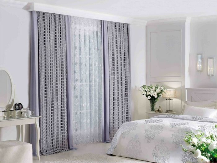 curtains drapery curtains lace fine home textiles purple color
