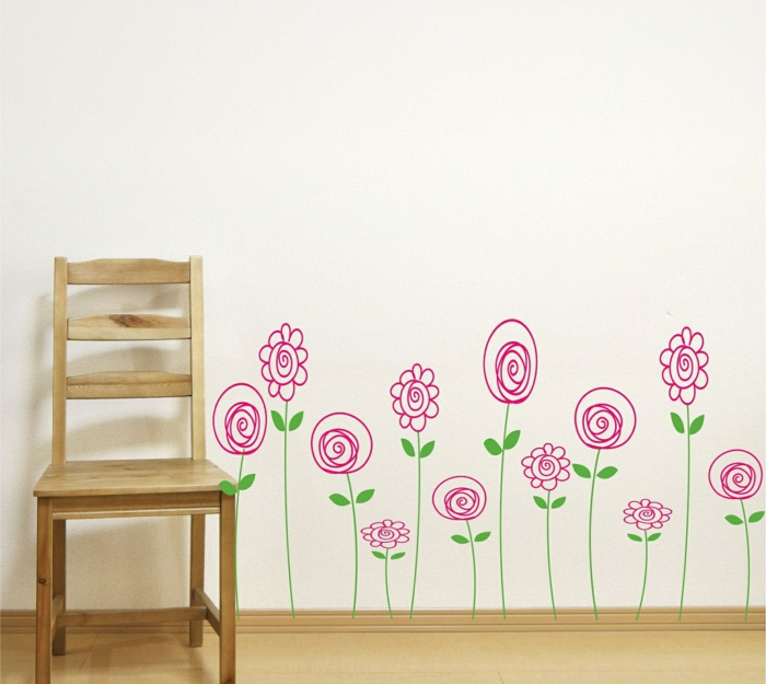 wall decals creative wall design wall deco ideas flowers