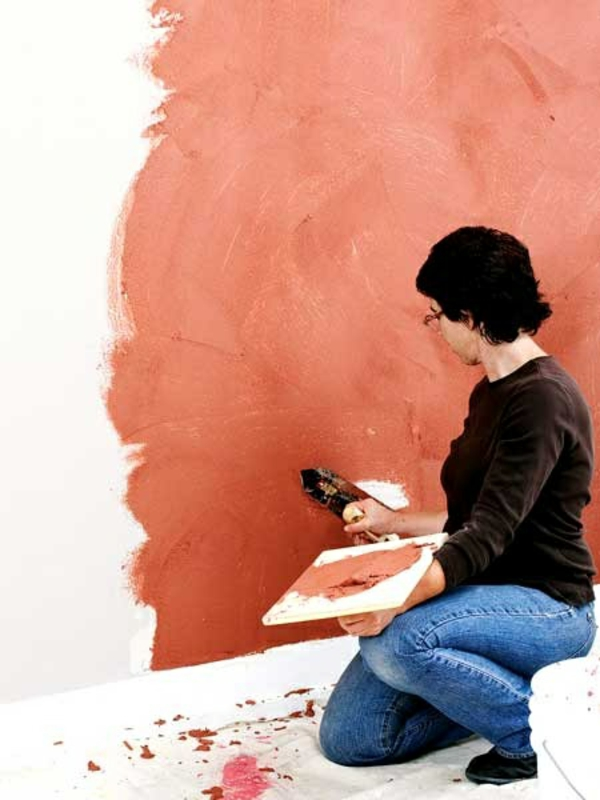 brushing plaster walls plastering plaster coat colored