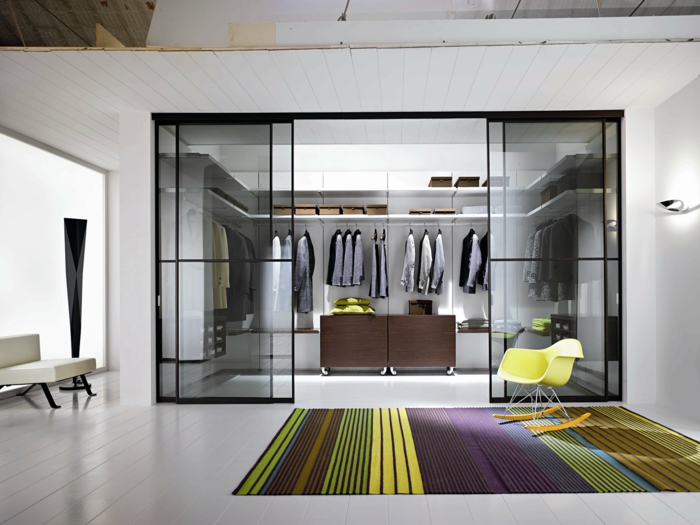 walk-in wardrobe glass doors inside glass door