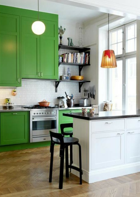 color ideas for kitchen green fresh strong wood kitchen cabinets