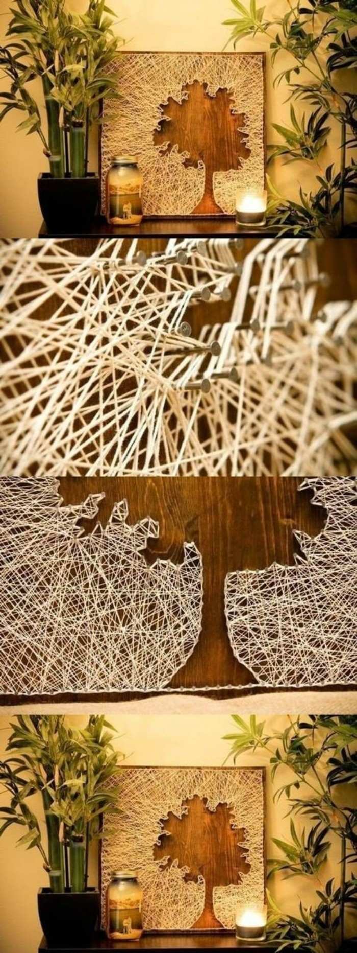 make thread pictures yourself wall decoration