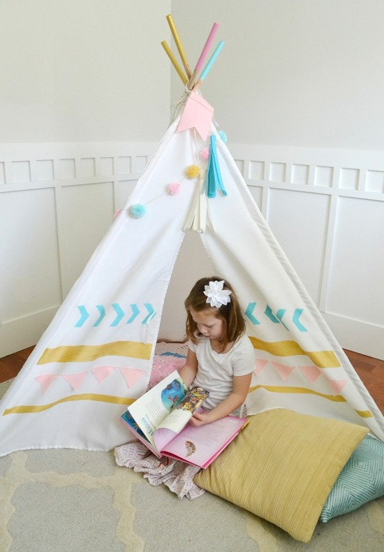 tipi tent sewing tipi tent build yourself and paint colorful
