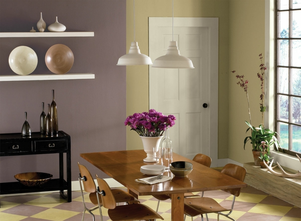 Inspirational wall colors combinations dining room