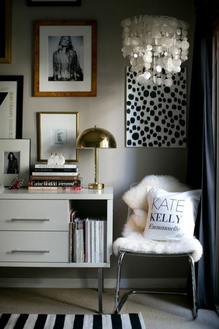 decorating living room with books