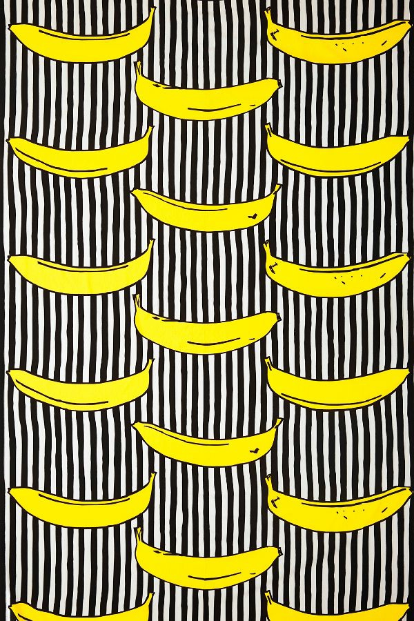 wallpaper pattern bananas garish accents wall design