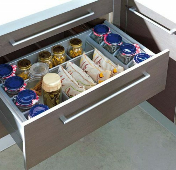 practical ideas Organization of kitchen drawers glasses
