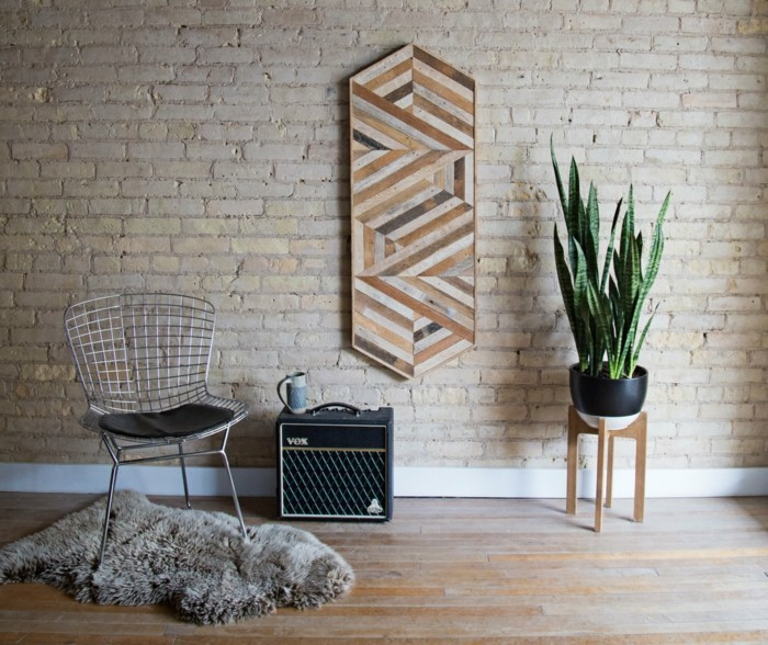 Wooden wall decoration stylish