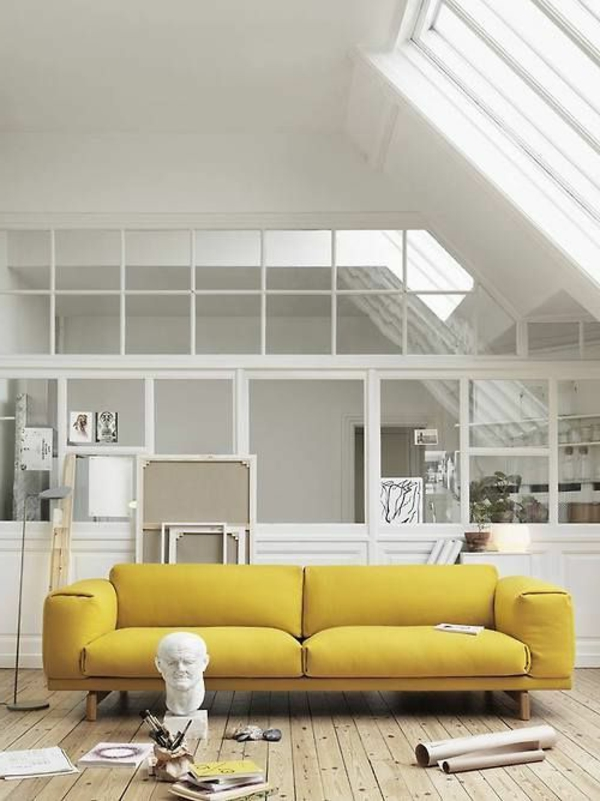 living room sofa stark color
