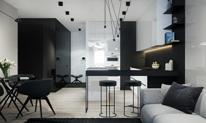 Residential Colors Wall Colors Trends Interior Design Color Black Chiffon Tables