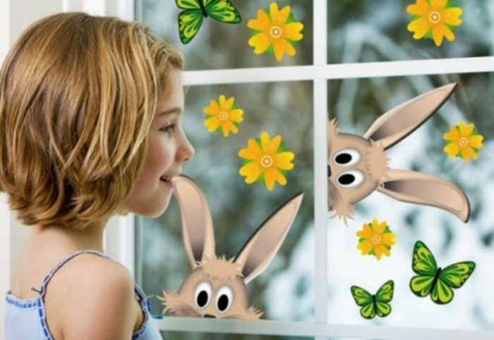 Make window pictures with children joy