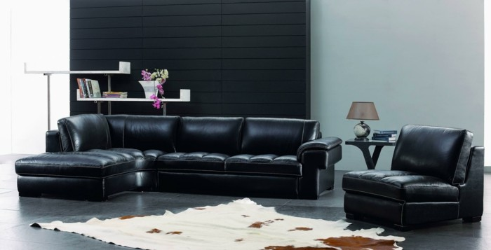 brown leather sofa in scene 18