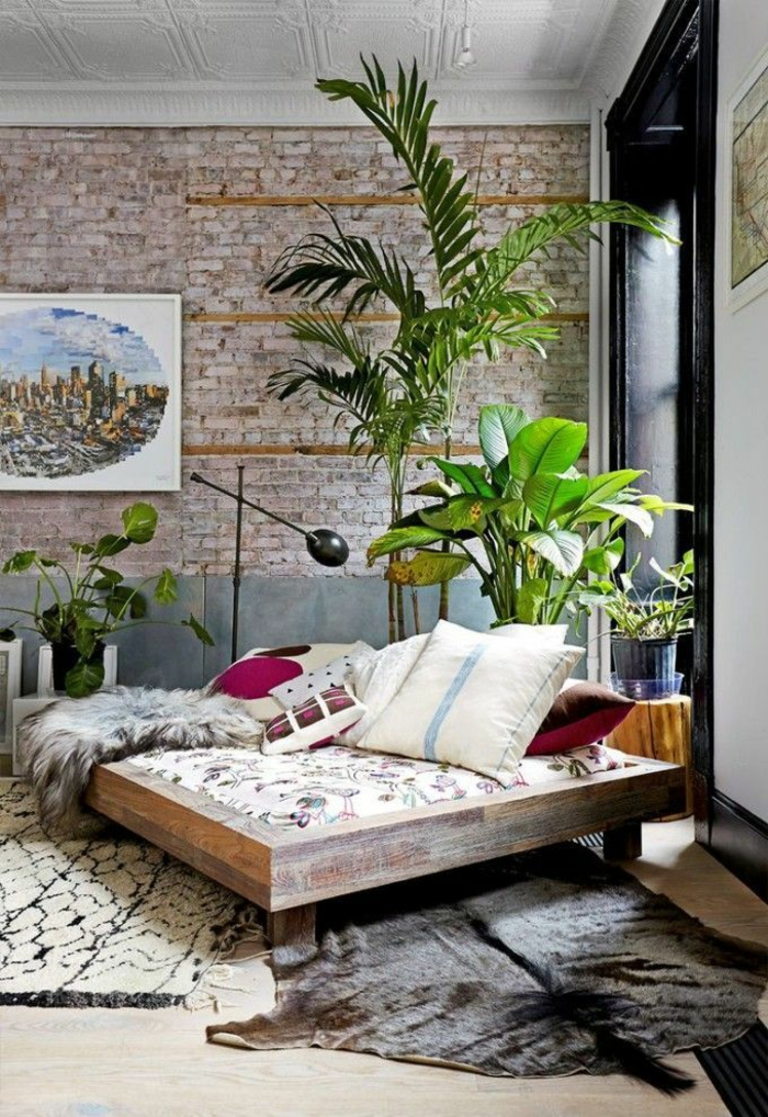 japanese decoration ideas with indoor plants japanese bed