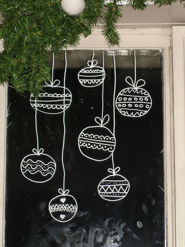 Christmas ball as a window decoration