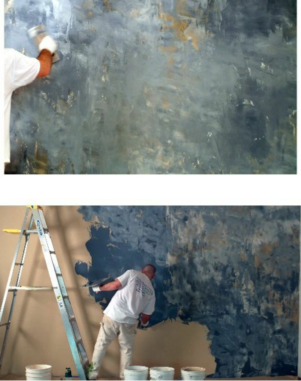 plastering interior walls decorating brushes
